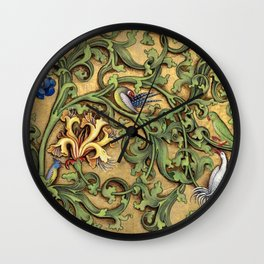 Hours Of Charles Of Angouleme Wall Clock