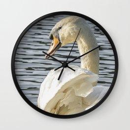 swan wildlife bird Wall Clock
