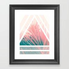 Pastel Palms into Triangle Framed Art Print