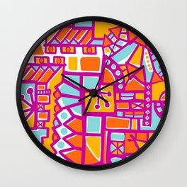 Orangy Bright Abstract Wall Clock