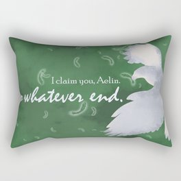 To Whatever End (Green) Rectangular Pillow