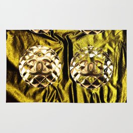 gold vintage earrings coco Rug