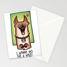 I wanna go for a walk ! Stationery Cards