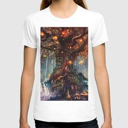 Magnificent Big Marvelous Magic Glowing Fairytale Forest Tree Light Bulbs Dreamland Ultra HD T-shirt
