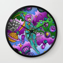 Space Girl Wall Clock
