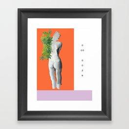 ooze. Framed Art Print