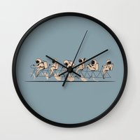 lunar Wall Clocks featuring The Great Lunar Cycle by AGRIMONY // Aaron Thong