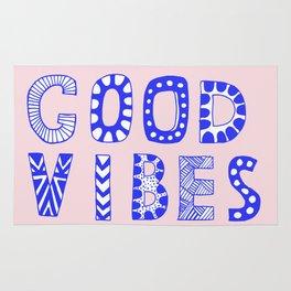 Good vibes pastel typography Rug