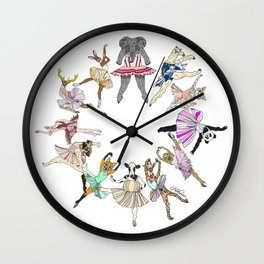 Animal Ballet Hipsters LV Wall Clock