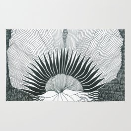 Flower In The Night Rug
