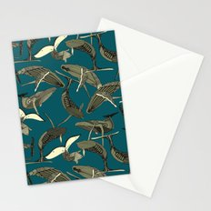 just whales blue Stationery Cards