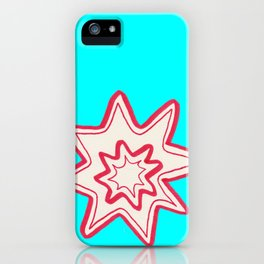 POW -  (Bright Blue) iPhone Case