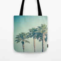 palms Tote Bags featuring Palms by Laura Ruth