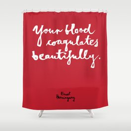 Blood-red Shower Curtain