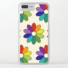 Flower pattern based on James Ward's Chromatic Circle (enhanced) Clear iPhone Case