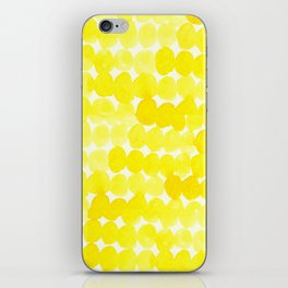 yellow//dots iPhone Skin