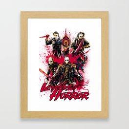 LEGENDS OF HORROR COLOR Framed Art Print