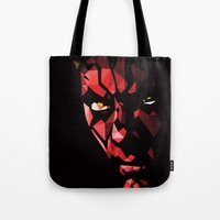darth Tote Bags featuring Darth Maul by Roland Banrevi