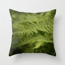 Jane's Garden - Fern Fronds Throw Pillow