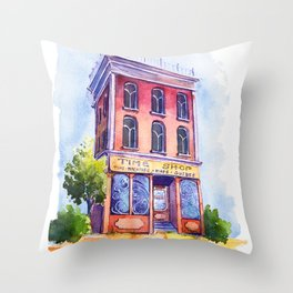 TIME SHOP Throw Pillow