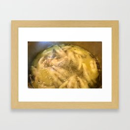 Boiling Chicken Feet Framed Art Print