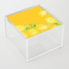 Lemons on Mustard Yellow Acrylic Box