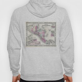 Vintage Map of Central America (1864) Hoody