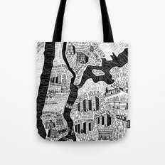Hip-Hop Map of New York Tote Bag