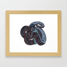 Sharp-tailed Snake-Boy Framed Art Print