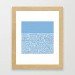 Riverside - Placid Blue Framed Art Print