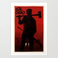 evil dead Art Prints featuring The Evil Dead by Bill Pyle