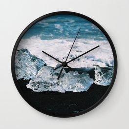 Beached ice Wall Clock