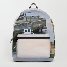 Ballintoy Harbour, Ireland. (Painting) Backpack