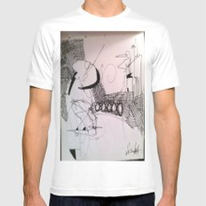 6/8/12 White Mens Fitted Tee SMALL