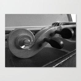 Violin Scroll in Black & White Canvas Print