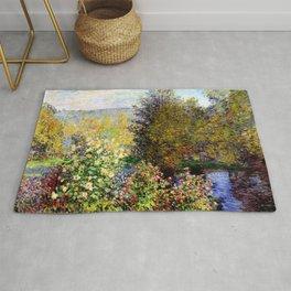 Claude Monet : A Corner of the Garden at Montgeron Rug