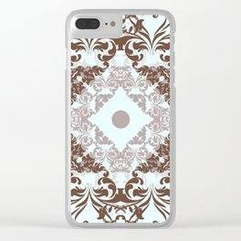 Vector fashion pattern with classic Victorian swirls and flourishes Clear iPhone Case
