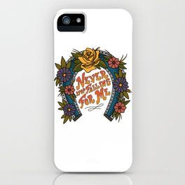 Never Stop Falling For Me iPhone Case