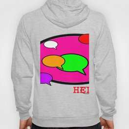 Word Bubble HELP jGibney The MUSEUM Society6 Gifts Hoody