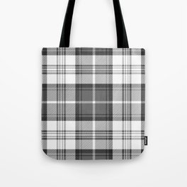 Black & White Tartan Tote Bag