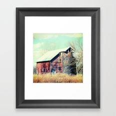 Barn in the heartland Framed Art Print