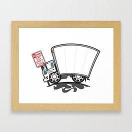 Blank Box Truck Framed Art Print