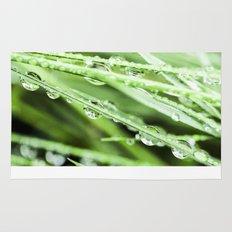 After The Rain - Green Macro Rug