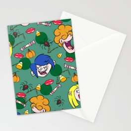 Kissing monsters pattern Stationery Cards