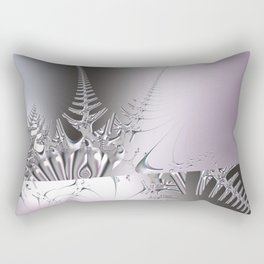 Gentle ice crystals like fern -- Fractal abstract Rectangular Pillow