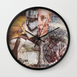 Two Faced Storm Wall Clock