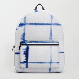 Shibori Blue - Squares Backpack