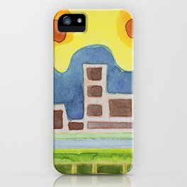 Surreal Simplified Cityscape iPhone Case