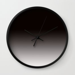 Monochromatic Background, Faded Black to Grey Wall Clock