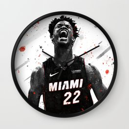 Jimmy Butler Basketball Print Basketball Wall Art Basketball Poster Basketball Wall Decor Poster Wall Clock